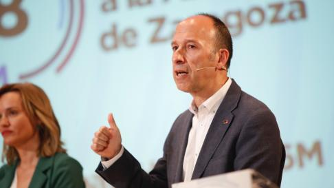 Carmelo Asensio, candidato de CHA al Ayuntamiento de Zaragoza.
