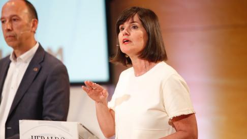 Elena Allué, candidata del PAR al Ayuntamiento de Zaragoza.