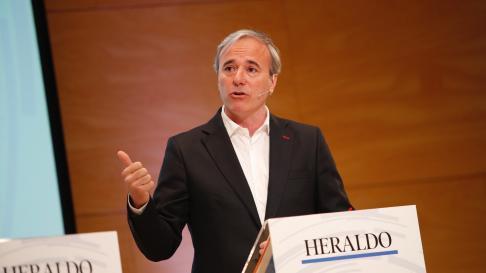 Jorge Azcón, candidato del PP al Ayuntamiento de Zaragoza.