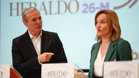 Jorge Azcón y Pilar Alegría.