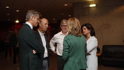 Minutos previos antes del debate municipal de Heraldo de Aragón.