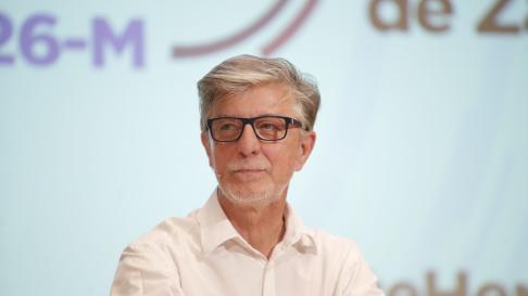 Pedro Santisteve, candidato de Zaragoza en Común al Ayuntamiento de Zaragoza.