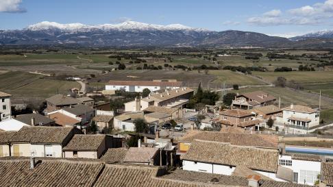 Vista de la localidad oscense de Angües.