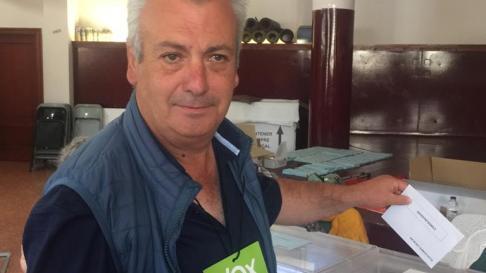 Carlos Cabrera, candidato de Vox al Ayuntamiento de Monzón.