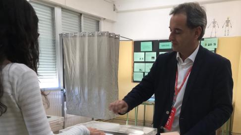 El alcalde de Binéfar, Alfonso Adán, candidato a la reelección.