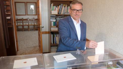 El número uno de la lista del PP a las Cortes de Aragón por Teruel, Joaquín Juste.