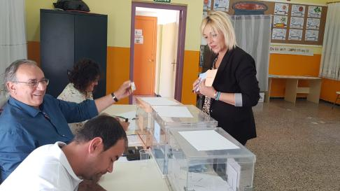 Judith Budios acaba de votar en la capital monegrina.