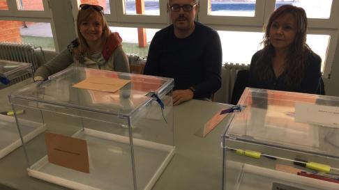Mesa electoral en María de Huerva a las 9.00