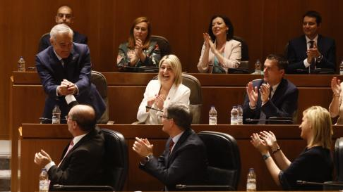 Imágenes de la sesión constitutiva del parlamento autonómico, la primera de la X legislatura