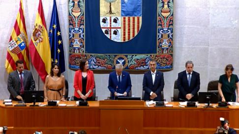 Quedan constituidas las Cortes de Aragón