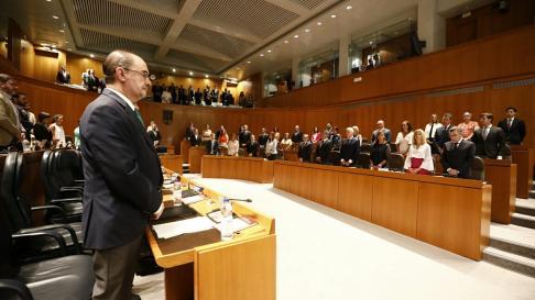 Segunda sesión del debate de investidura de Javier Lambán