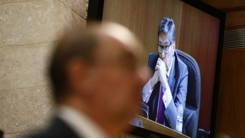 Comparecencia de Soro en la segunda sesión de investidura de Lambán.