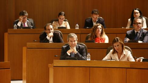 Segunda sesión de investidura de Javier Lambán.