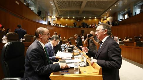 Segunda sesión del debate de investidura de Lambán.