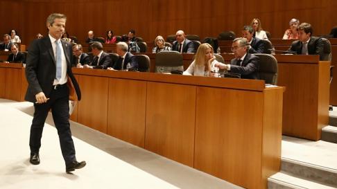 Segunda sesión del debate de investidura de Lambán en las Cortes de Aragón.