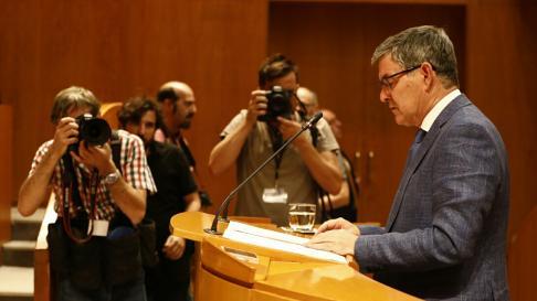 Vicente Guillén (PSOE), en la segunda sesión de investidura de Lambán.