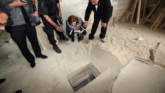 Lugar por donde escapó El Chapo.