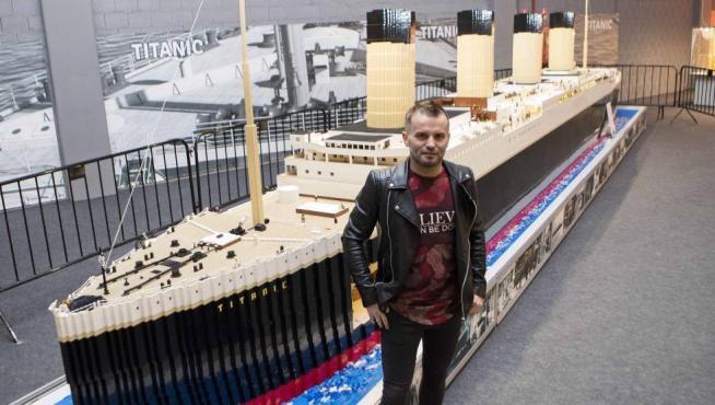 La maqueta del Titanic, en Lego.