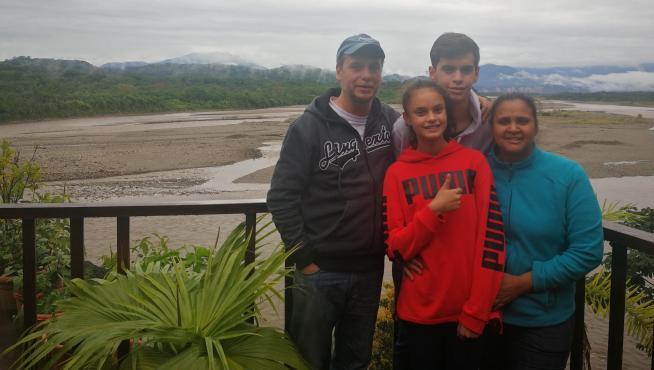 Germán Sánchez y su familia