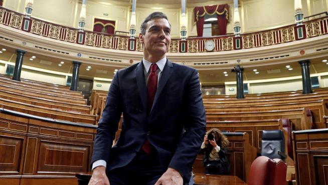 Pedro Sánchez, investido presidente del Gobierno en segunda votación.