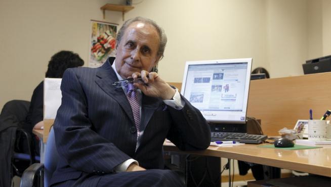 Jaime Peñafiel en la redacción de HERALDO.es