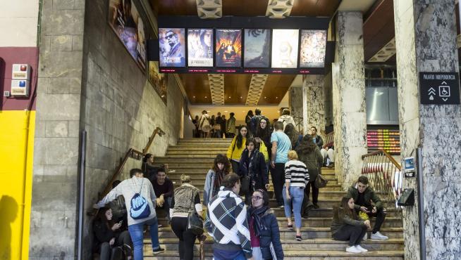 Cines Palafox en Zaragoza este lunes.
