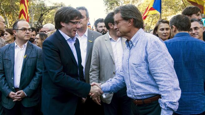 Carles Puigdemont y Artur Mas en una imagen de archivo