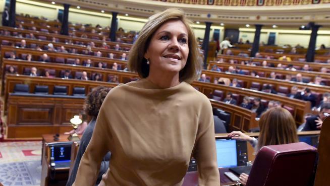 La ex secretaria general del PP, María Dolores de Cospedal, en una foto de archivo.