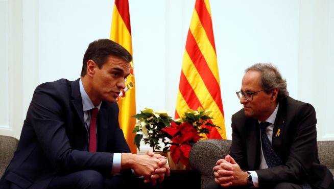 Sánchez se reúne con Torra en el Palacio de Pedralbes