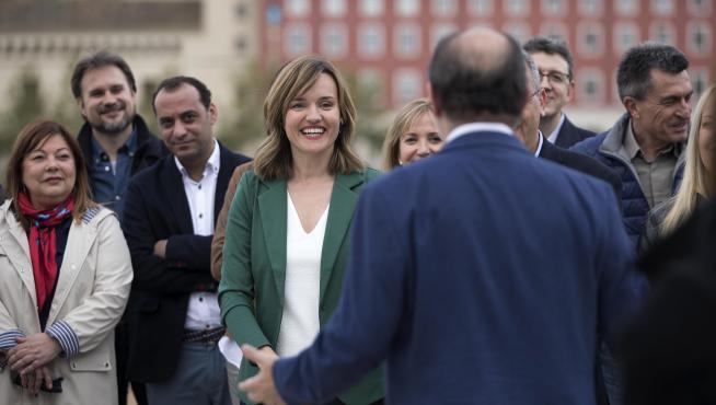 Pilar Alegría, en la presentación de su candidatura