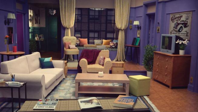 Salón de 'Friends' con muebles de Ikea.