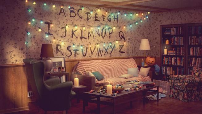 Salón de Ikea de 'Stranger things'.