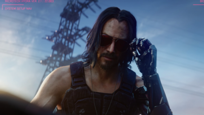 Keanu Reeves sorprendió al público en Cyberpunk 2077