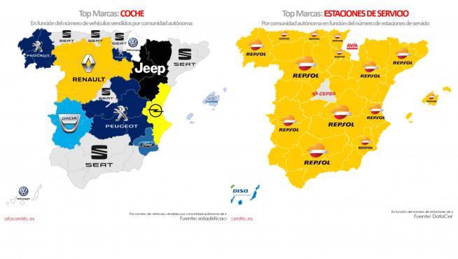 Mapa preferencias marcas motor de Datacentric