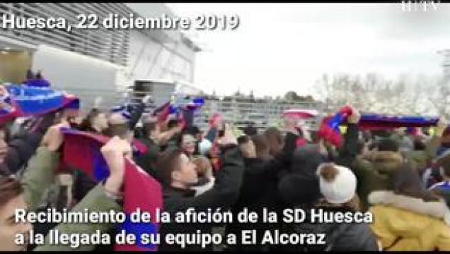 Llegan los equipos a El Alcoraz