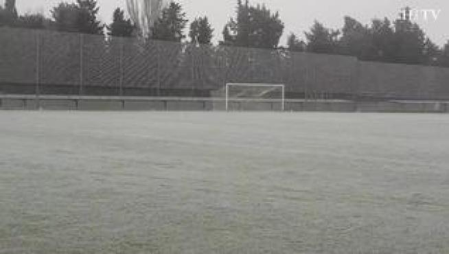 La Ciudad Deportiva del Real Zaragoza... helada