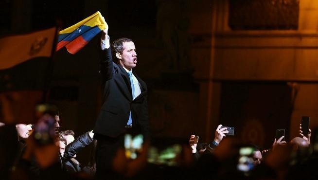 Visita de Juan Guaidó a Madrid