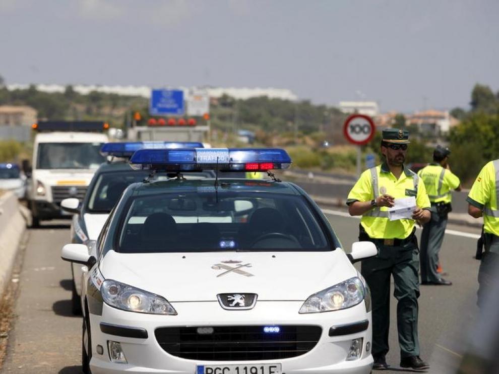 Control de la Guardia Civil en carretera