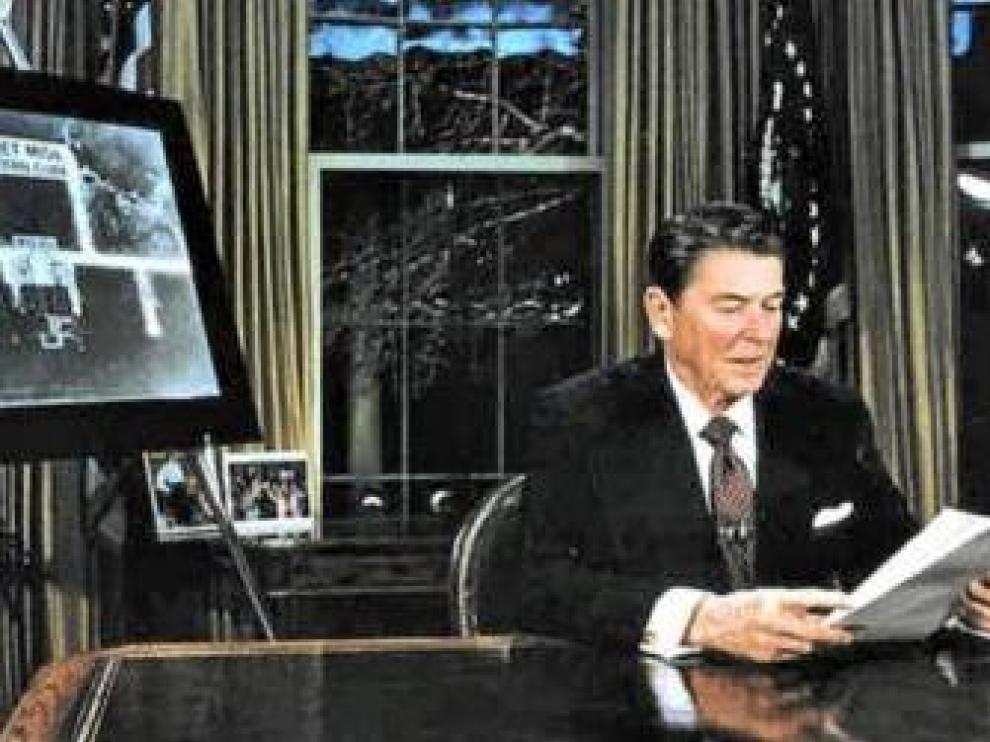 Reagan en una foto de archivo