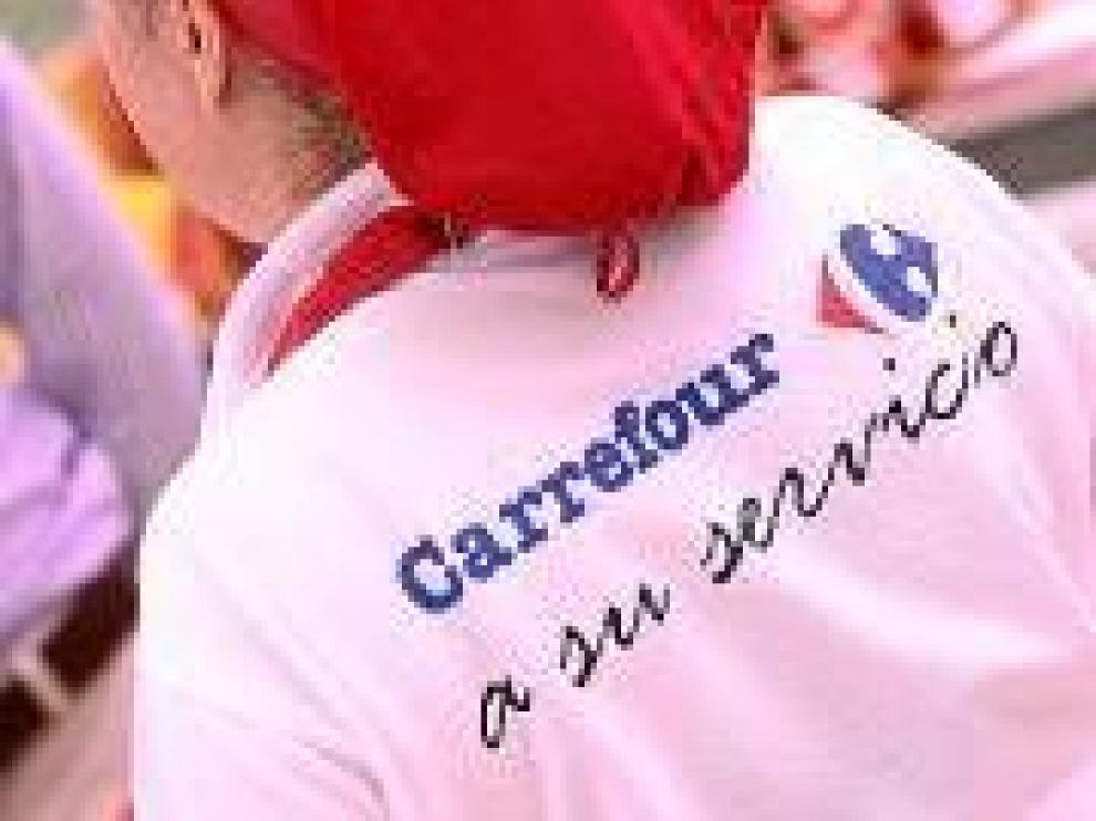Trabajadora de Carrefour.