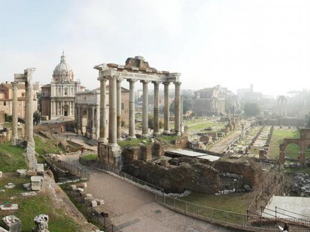 Vista del foro romano de la capital italiana