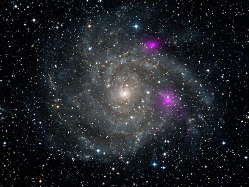 Imagen de una galaxia captada por la NASA