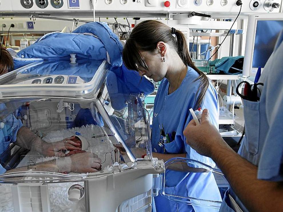 UCI de neonatos del hospital Infantil de Zaragoza.