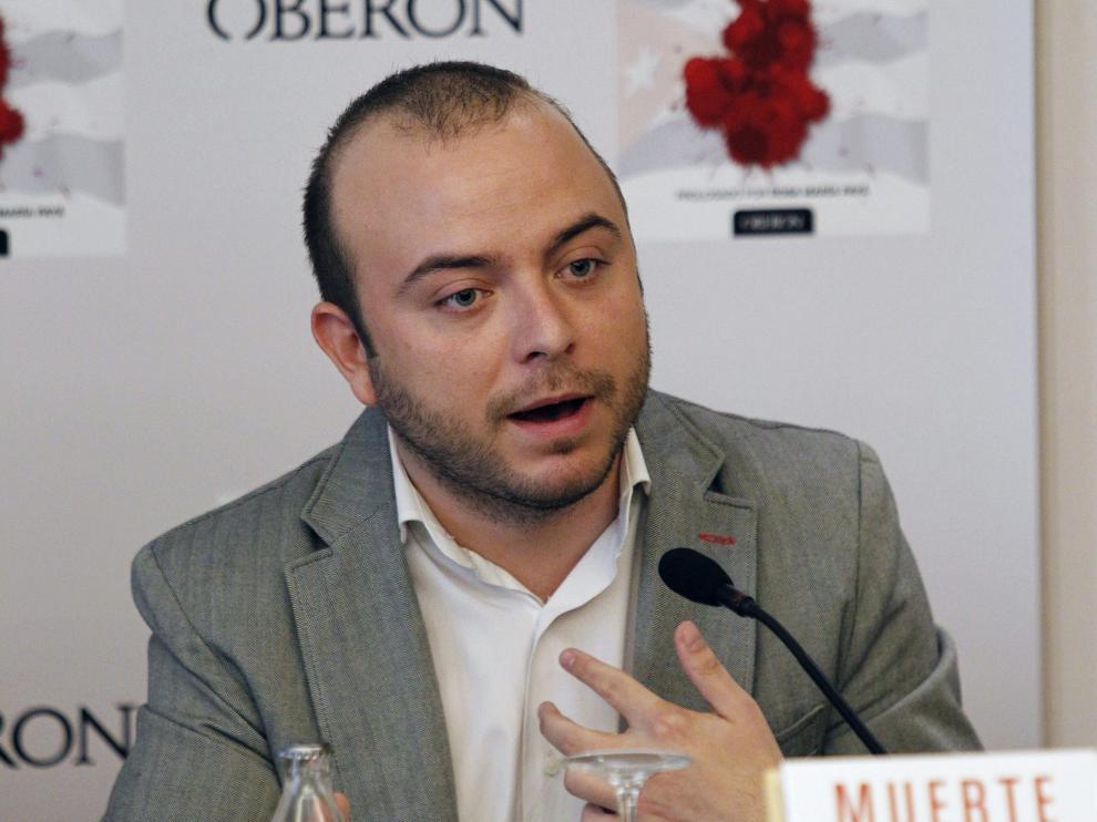 Ángel Carromero en la presentación de su libro 'Muerte bajo sospecha'
