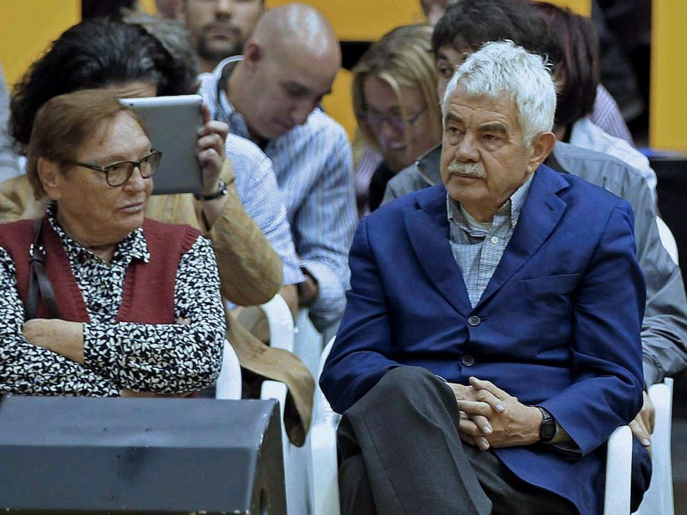 Pasqual Maragall, en el mitin de ERC