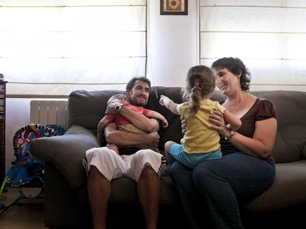Imagen de archivo de una familia de acogida
