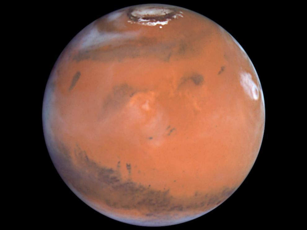 Imagen de Marte tomada por la sombra Hubble
