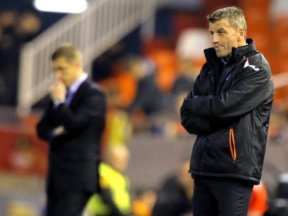 Djukic en su anterior etapa como entrenador del Valencia