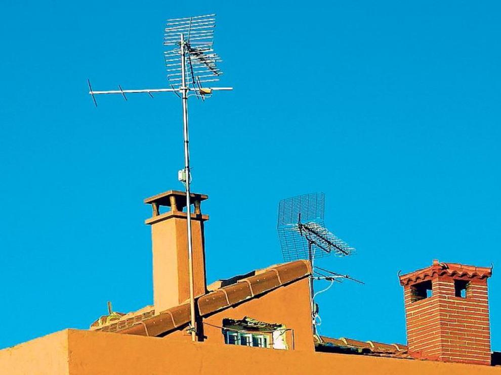 Antena colectiva, en una imagen de archivo.