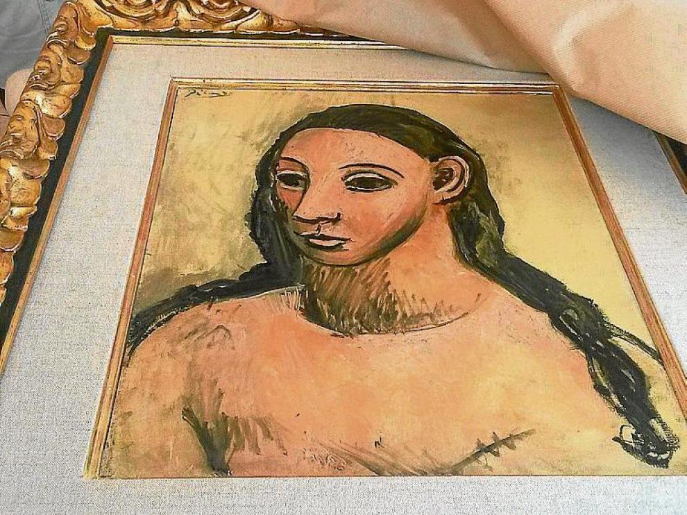 'Cabeza de mujer joven', la obra de Picasso requisada.